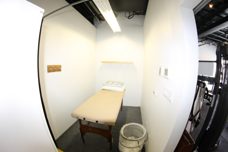 Massage and acupuncture treatments are done in the private back room.