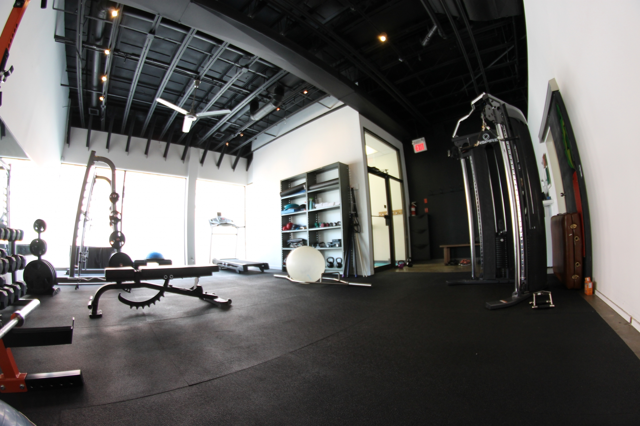 Internal view of TrainingSpaces studio, showing the abundant natural light.
