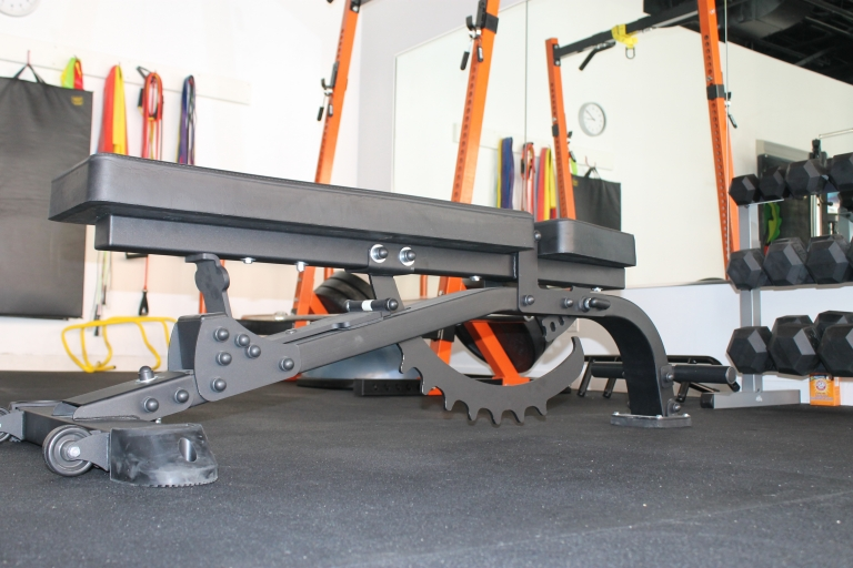 AmStaff half rack and adjustable bench