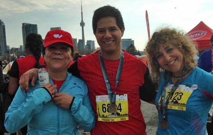 Andres Palomino at the Toronto Marathon May 6 2018