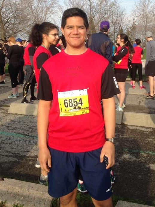 Andres Palomino at the Toronto Marathon Sunday May 6 2018
