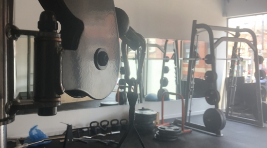 closeup on handle of Inspire functional trainer machine