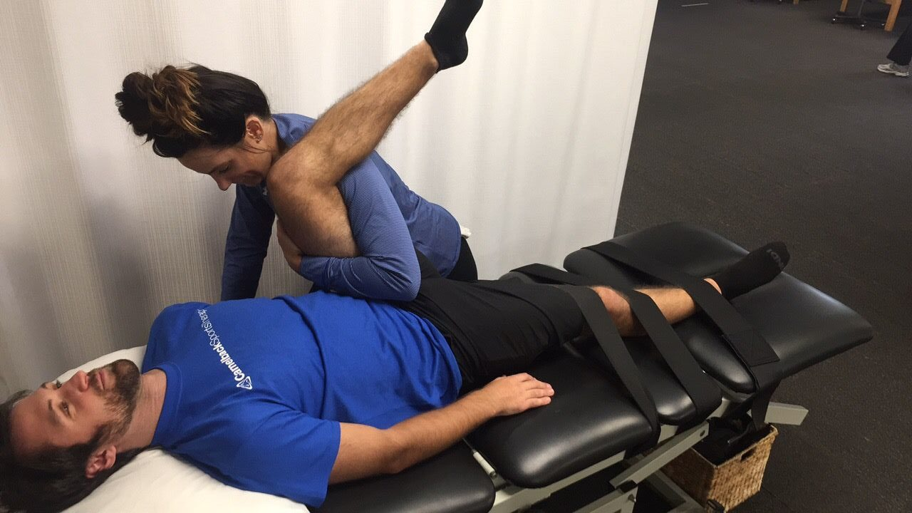 Fascial stretching therapy / Image source: camelbacksportstherapy.com