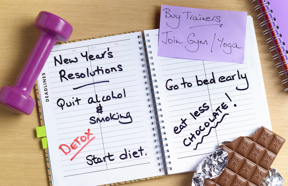 Best take a realistic approach to New Year's resolutions. / Image credit: Peter Dazeley/Getty Images