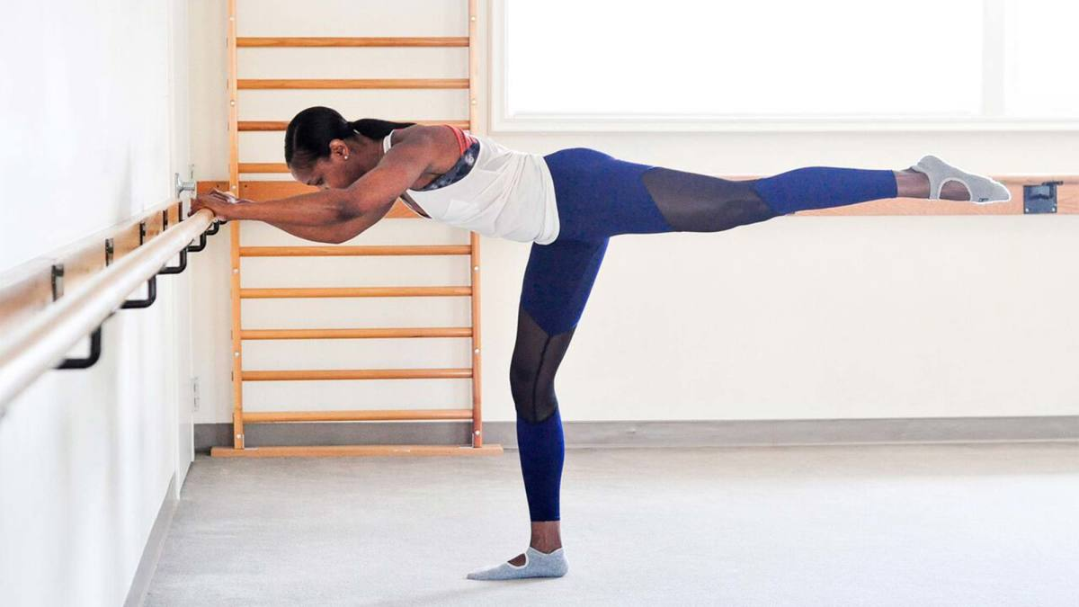 Barre exercise / Image source: Yoga journal